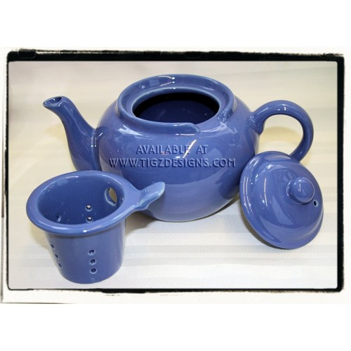 Dominion ceramic teapot 3 cup with infuser blue - Tea pots with infuser ...
