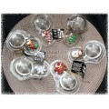 "Assorted Christmas 2"" Tea Strainer Balls - 18/8 Grade Stainless Steel"