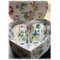 McIntosh Fine Bone China - Garden Meadow Set of 2 Mugs