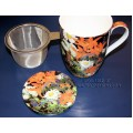 McIntosh Fine Bone China - Thomson Marguerite Tea Mug w/Infuser & Lid