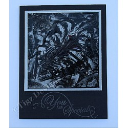 Encaustic Elements - Black Rose #017