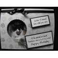 Cat Birthday Greeting Card - Cassia