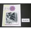 Get Well Pet Greeting Card - Snuffles