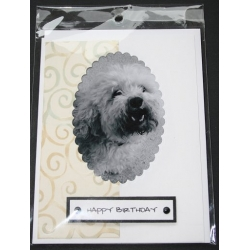 Dog Birthday Greeting Card - Muffy