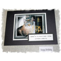 Funny Cat Birthday Cards - Bad Habits - Snuffles