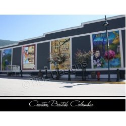 Creston BC Postcards - Creston Mural