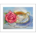 "Teacup Notes - by Creston Artist Laura Leeder  ""Ethel's Teacup"""