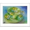 "Teacup Notes - by Creston artist Laura Leeder ""Lady Aynsley"""