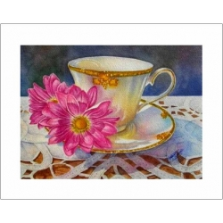 "Teacup Notes - by Creston artist Laura Leeder ""Miss Ambrosia"""