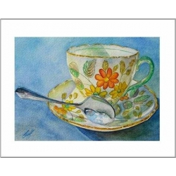 "Teacup Notes - by Creston artist Laura Leeder  ""Miss Daisy"""