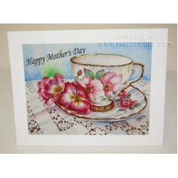 "Laura Leeder Watercolor Print - Mother's Day Card ""Lady May"""