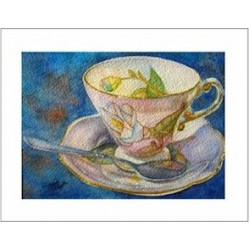 "Teacup Notes - by Creston artist Laura Leeder "" Miss Magnolia"""