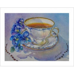 "Teacup Notes - by Creston artist Laura Leeder ""Treasured Moments"""