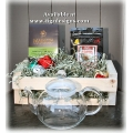 Artisan Tea Lover Gift Basket - 3 Flower Burst with Teapot